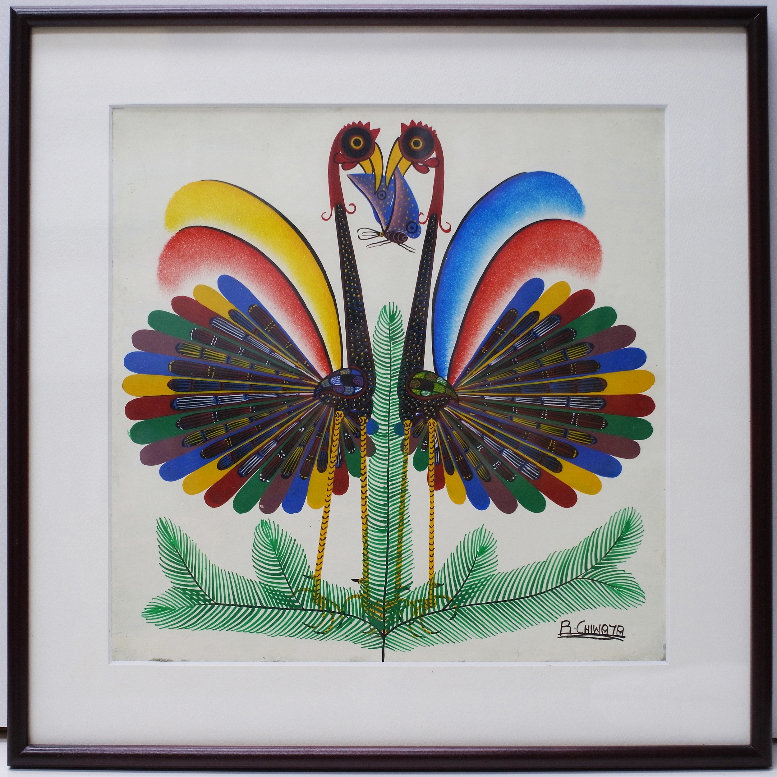 Bird Of Paradise  (300×300 Framed)