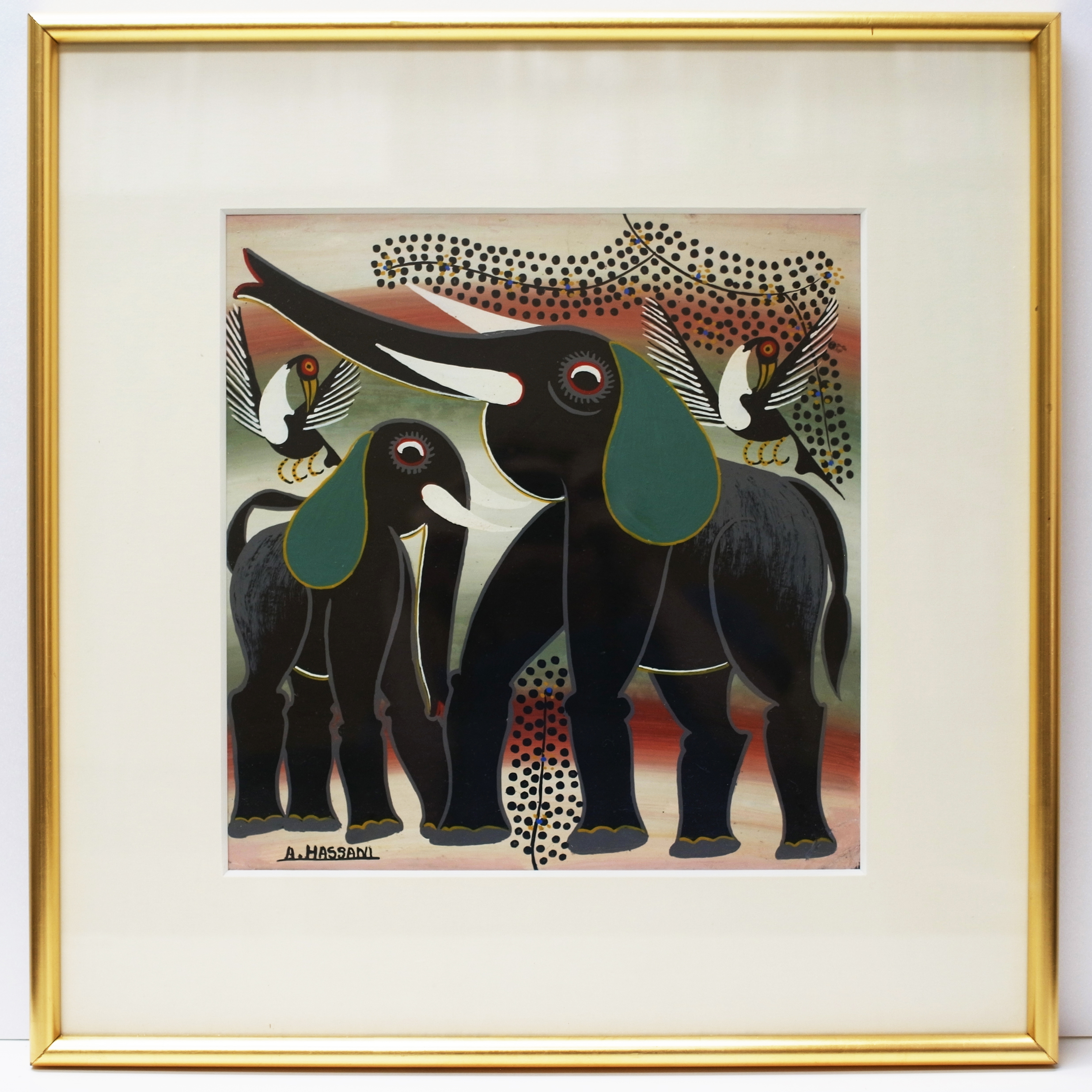 Elephant Brothers (300×300 Framed)