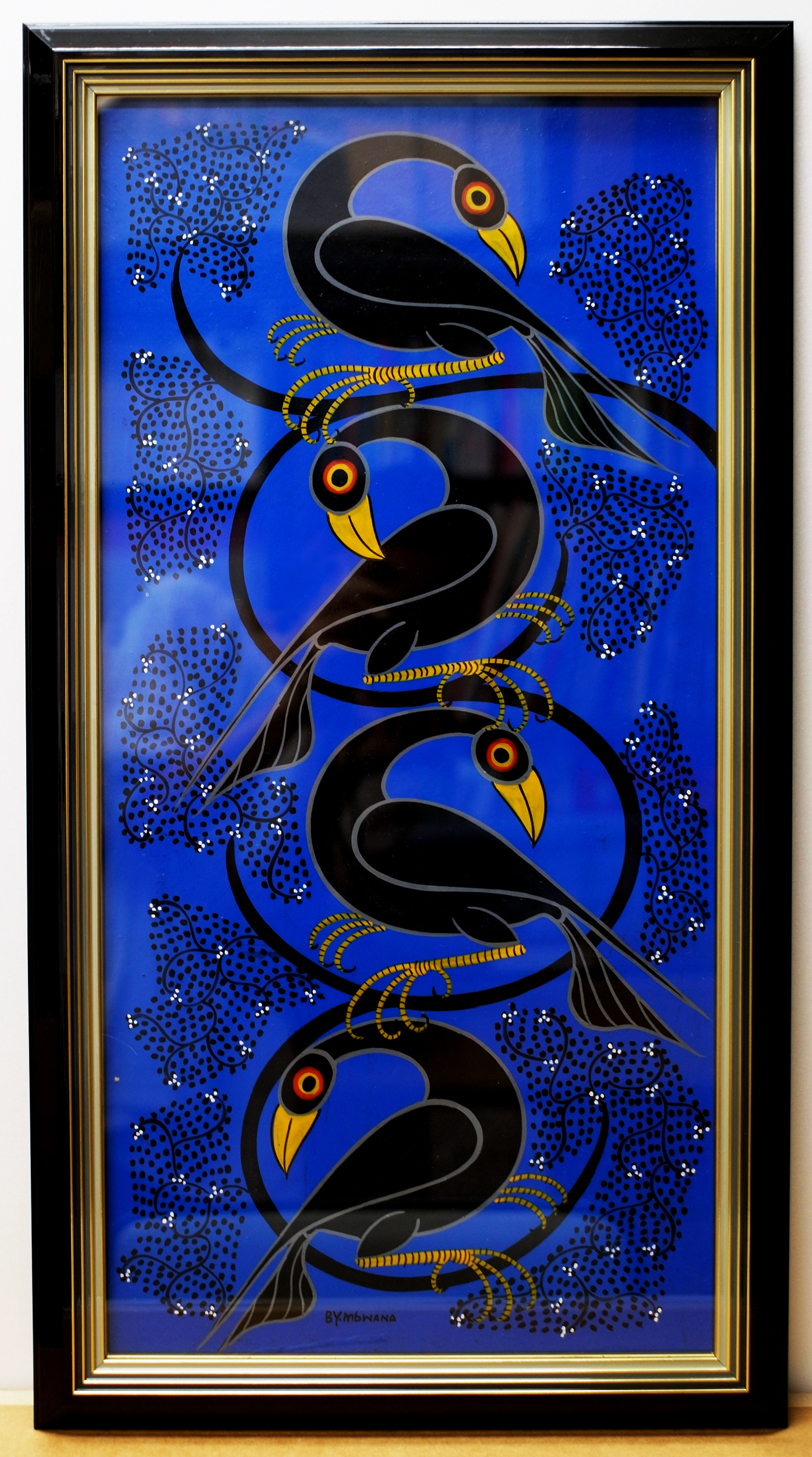 4 Birds (600×300 Framed)