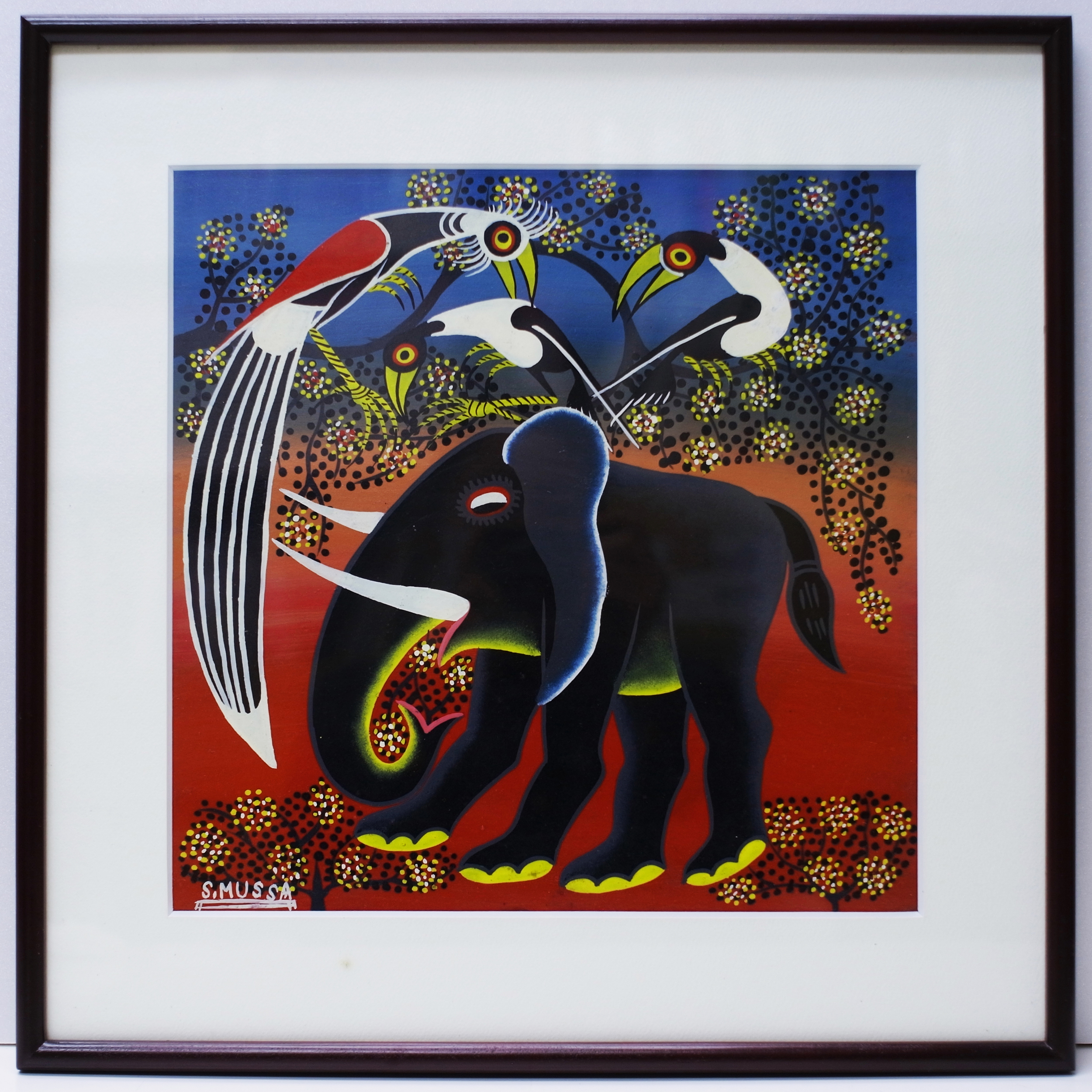 Elephant (300×300 Framed)