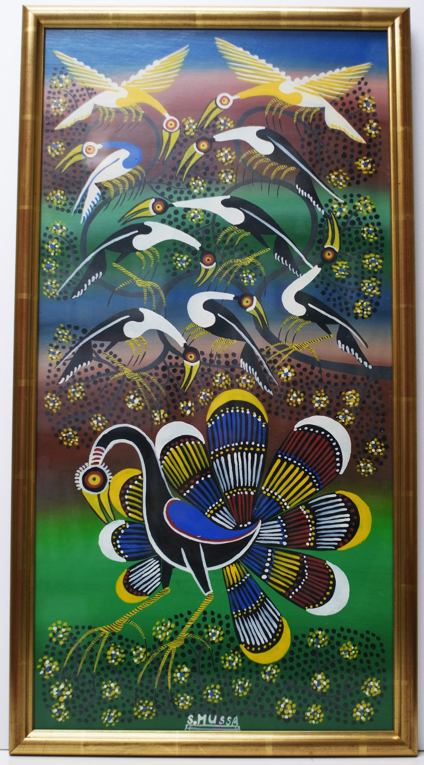 Peacock (600×300 Framed)